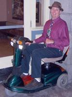 Me on my scooter in San diego in June 2006